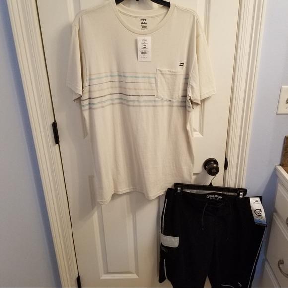 NWT Billabong board shorts and shirt